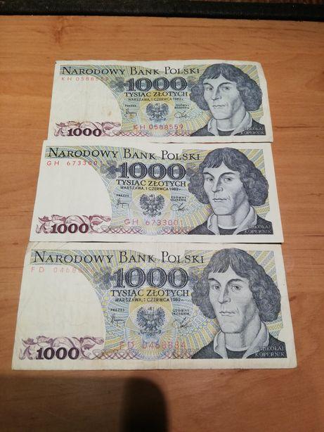 Banknoty 1000 zlotych