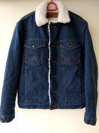 Wrangler Джинсовая куртка на меху М Levis Bershka