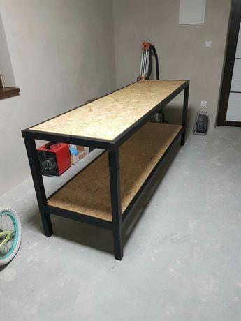 Stół warsztatowy 256x68x90 z profila zamkniętego