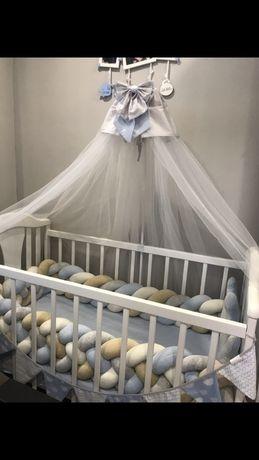 Детская кроватка «НАПОЛЕОН NEW» маятник белая 120x60