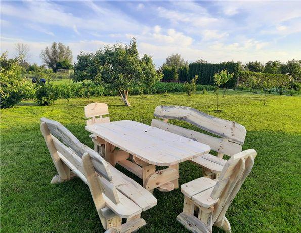 Zestaw ogrodowy, meble ogrodowe, ławka, stół, krzesło
