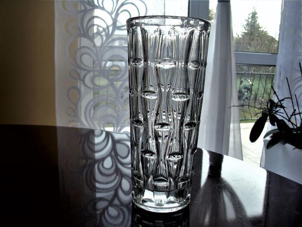 Czeski wazon szkło prasowane