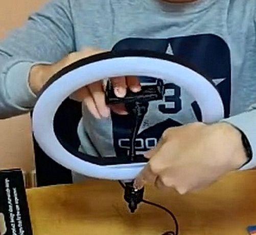 СКИДКА, Разноцветная кольцевая LED лампа RGB 26см, продается