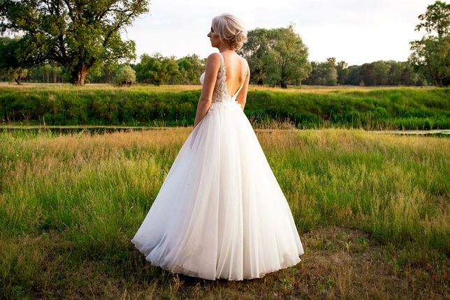 Piękna suknia ślubna! Cena do negocjacji.