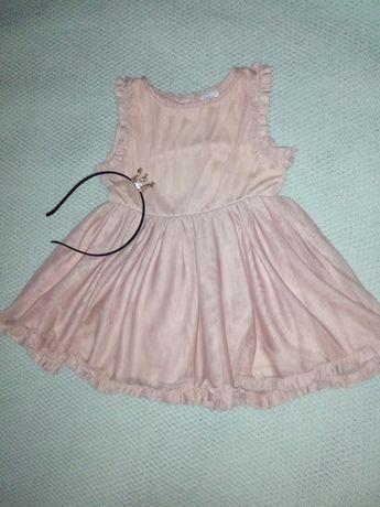 Нарядное платье для девочки принцессы 3-6мес,будет и дольше