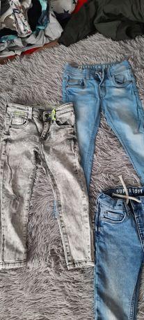 Spodnie 104 jeans dres