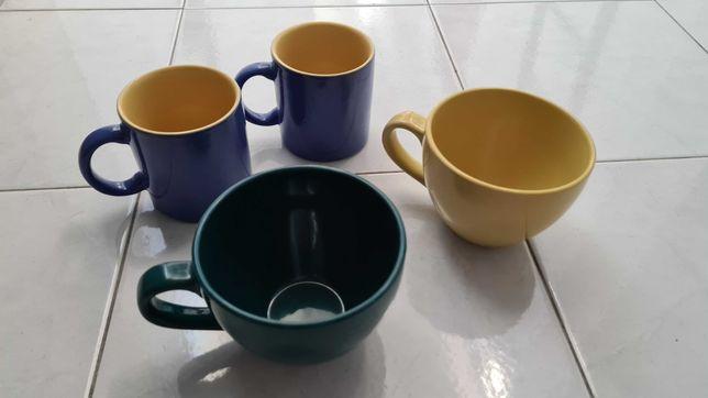 Quatro Chávenas chá/cereais