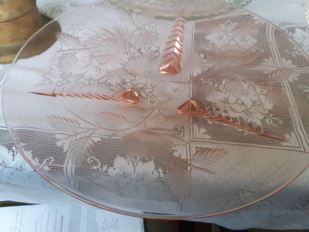 Prato grande vidro Rosa antigo