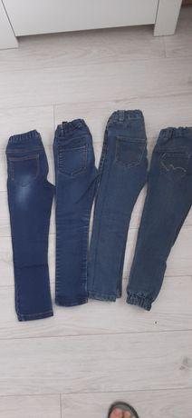 Spodenki jeansowe 4 pary, 110