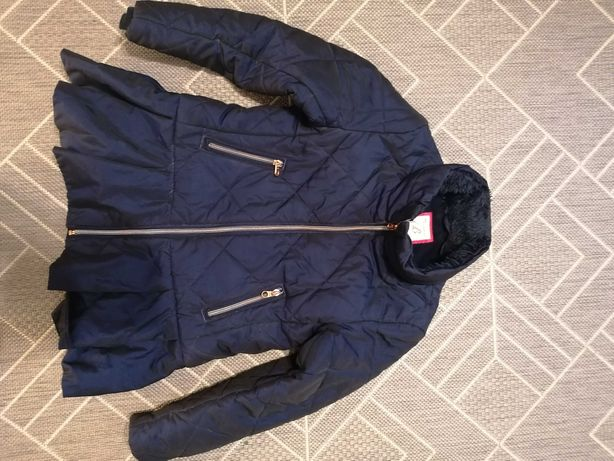 Ted Baker ciepła kurtka taliowana falbana rozmiar 8/9 lat