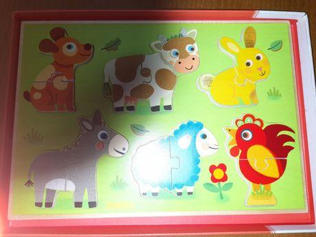 Puzzle Djeco animais da quinta
