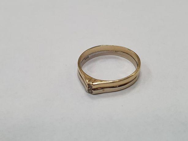 Piękny złoty pierścionek damski/ 585/ 2.7 gram/ R15/ sklep Gdynia