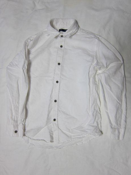 Рубашка детская, на мальчика, белая, Next, Англия, супер состав.