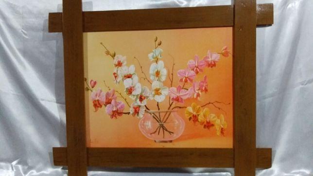 Картина репродукция размером 40 х 50 см. в широкой пластиковой рамке
