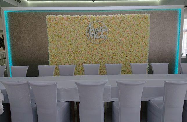 Ścianka kwiatowa dekoracja ślub wesele 18-tka sprzedam