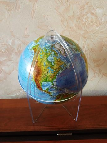 Глобус Землі фізичний 1:60 000 000
