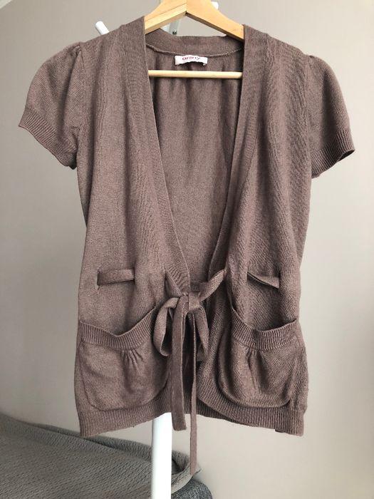 Sweterek kardigan brązowy Orsay wiązany kokardka 34 XS Chocianów - image 1
