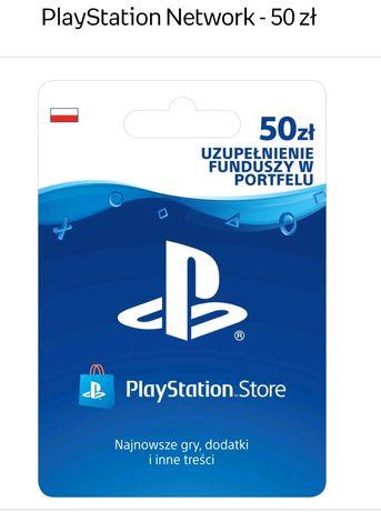 Doładowanie  50zł PlayStation network PSN . Portfel playstation