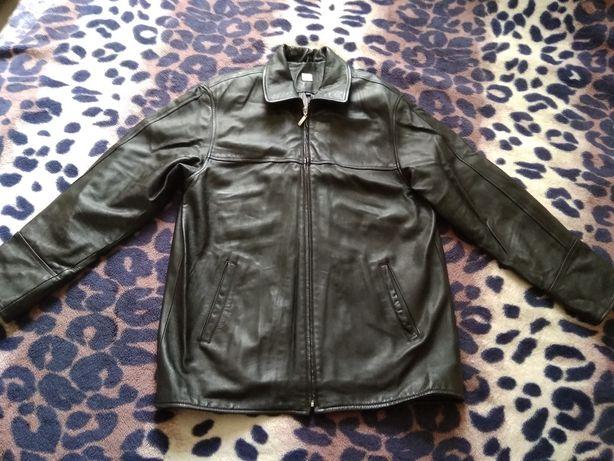 Кожаная куртка косуха BOSS, оригинал, мужская, размер С-М