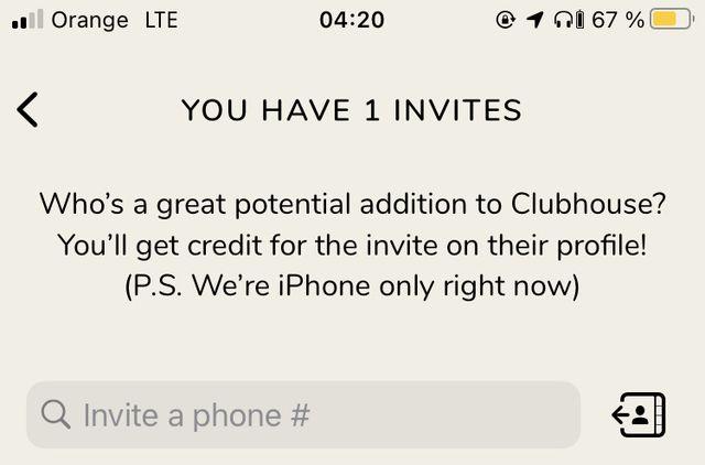 zaproszenie do clubhouse