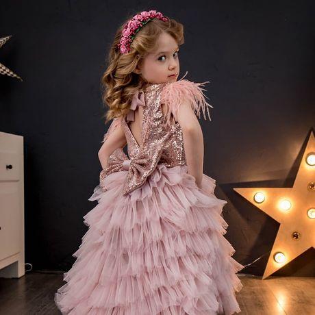 Пышные платья для девочек, детское выпускное платье, шикарное платье