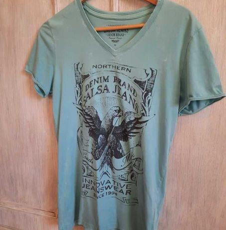 T-shirt turquesa homem Salsa