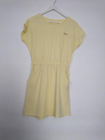 Jasnożółta sukienka/tunika