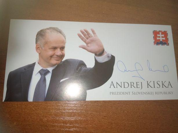 Sprzedam autografy, grafy, podpisy! Andrej Kiska