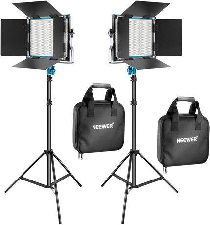 CONJUNTO duplo painéis led LED 660 neewer leds Led fotografia vídeo