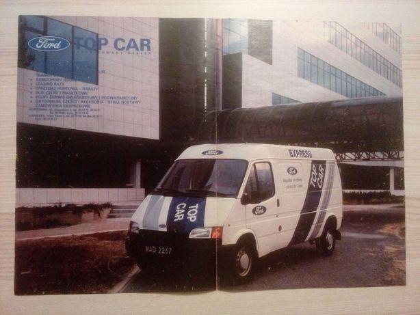 Plakat Poster Ford Transit Top Car 33,5cm x 47,5cm Czarne Blachy PL