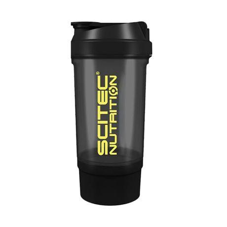 Czarny Shaker Scitec Nutrition 700ml + pojemnik na białko