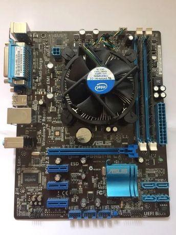 Комплект:мать Asus P8H61 M-LX/Intel G 2020/DDR3 8Gb