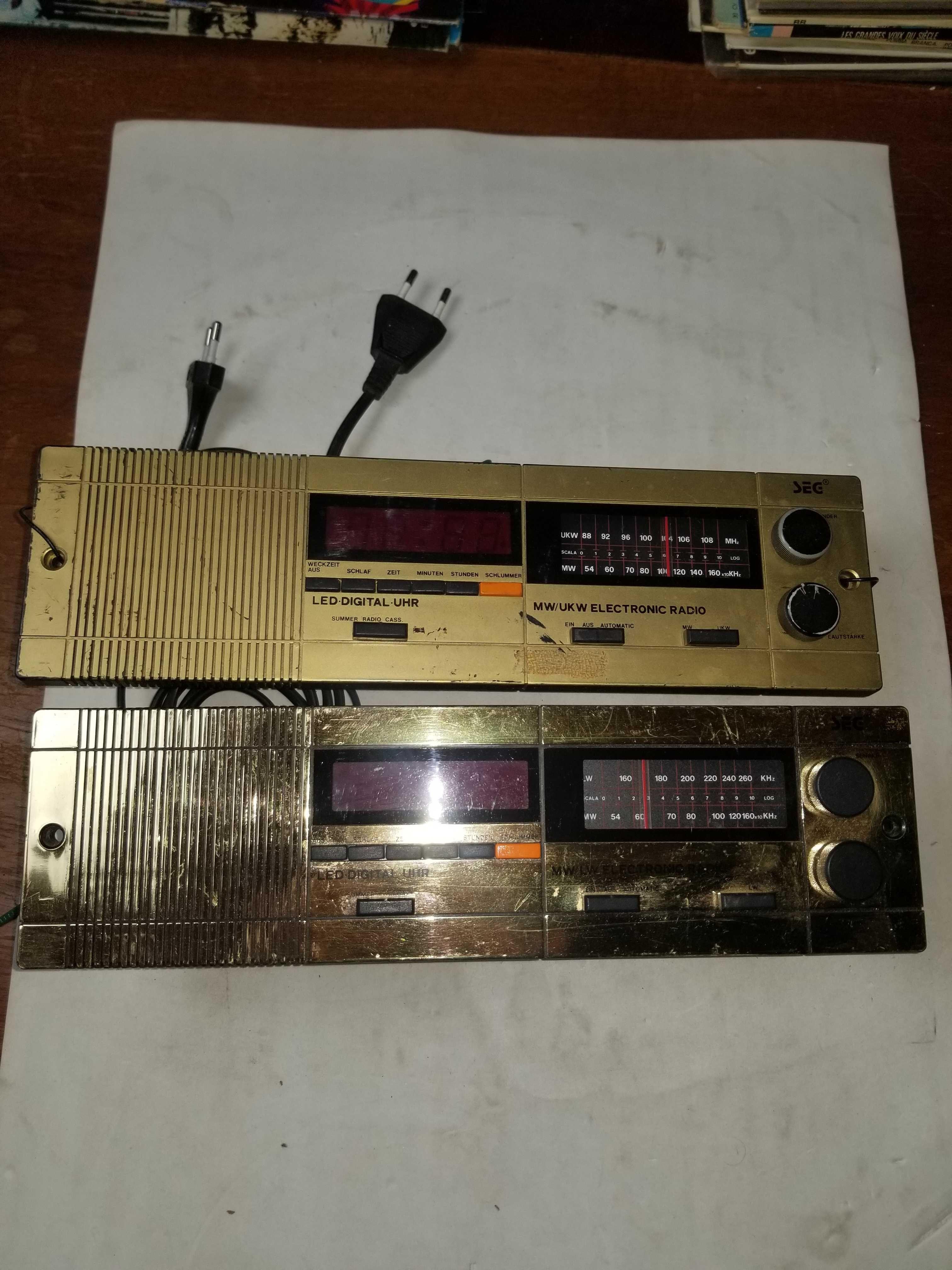 2  Rádios encastráveis SEG