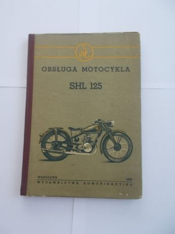 SHL 125 M 04 - Oryginalna instrukcja obsługi 1953 rok