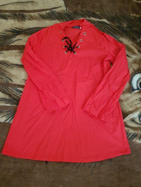 Koszula tunika czerwona