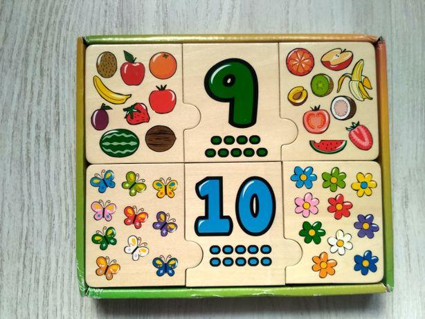 """Puzzle drewniane """"Nauka liczenia"""" dla 3-6 latka"""
