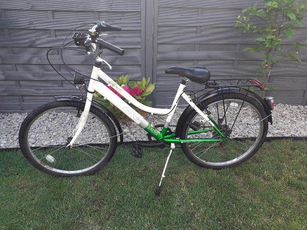 Rower miejski dla dziecka, nastolatka, koła 24 cale, stan bardzo dobry