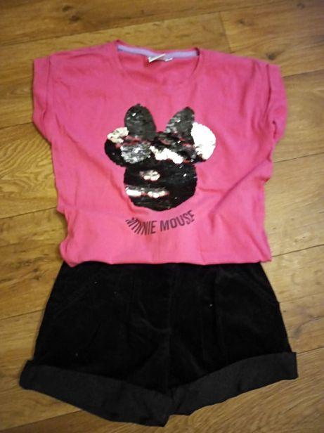 Spódniczka bluzeczka next H&M zestaw 110/116