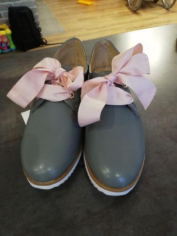 Skórzane buty r 38