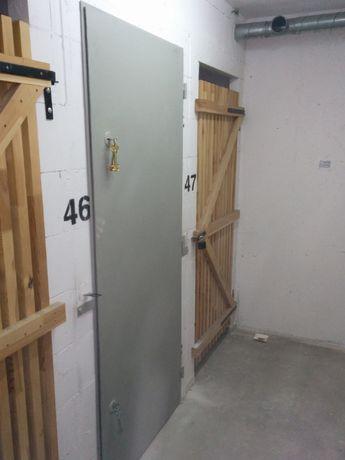 Drzwi stalowe - metalowe ogródek, piwnica, techniczne +montaż / pomiar