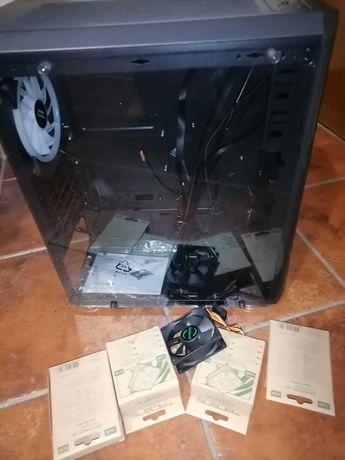 Caixa NOVA para PC c/4 ventiladores