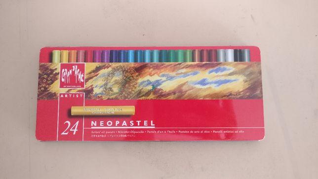 Caixa de Pastel de Óleo Neopastel Caran D' Ache 24 uni.