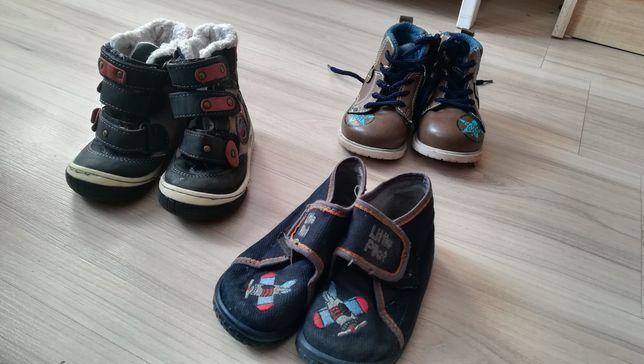 Buty zimowe, kapcie