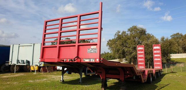 Semi reboque porta máquinas Zorra rebaixada 60 toneladas