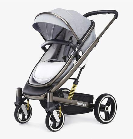 Детская коляска 2 в 1 трансформер Bebehoo ST401 (grey)