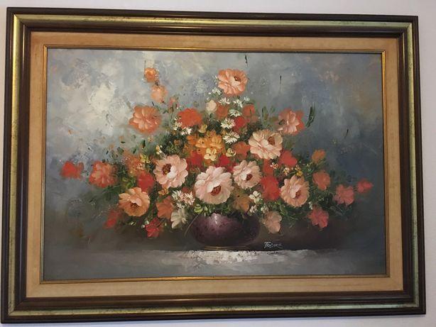 Vários quadros de Frederick pintados a óleo