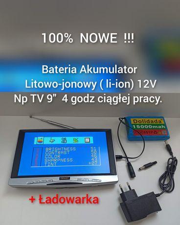 Akumulator Bateria Litowo-jonowy li-ion 12V Na kemping pod namiot
