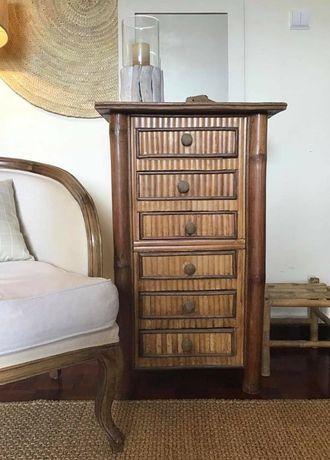 camiseiro, comoda, consola, bambu, verga, vintage, rustica