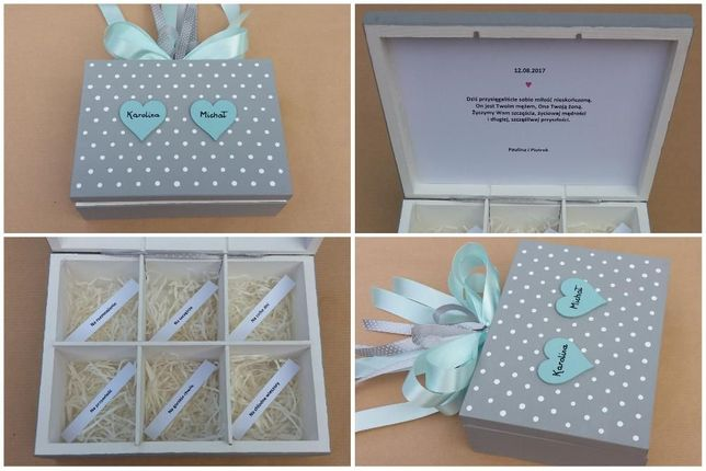 PUDEŁKO ŚLUBNE spersonalizowane prezent na ślub dla Młodej Pary