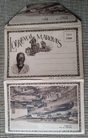 caderneta coleção 10 postais antigos de Lourenco Marques, Moçambique,